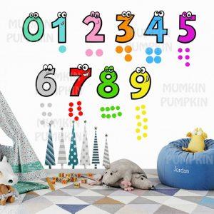 STICKER Educativ Pentru Copii cu Cifre Animale Colorate