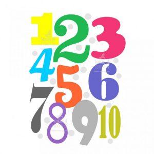 TABLOU educativ pentru copii – Cifre colorate