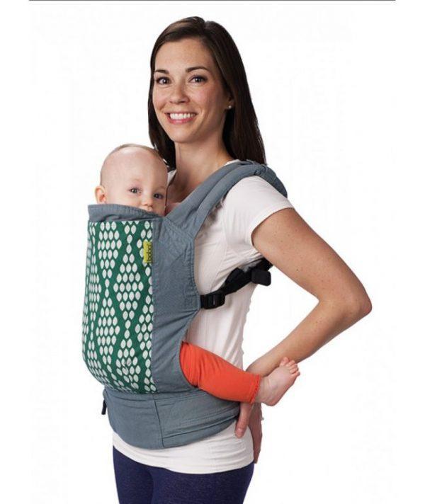 promotie boba, sistem de purtare ergonomic, portbebe 4G verde organic, marsupiu ergonomic, cu insert, de la nastere