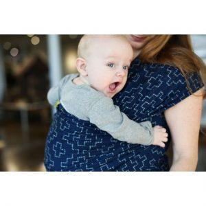 BOBA Wrap Elastic Pentru Purtarea Bebelușilor – Ediție Limitată Persimmon Sashiko
