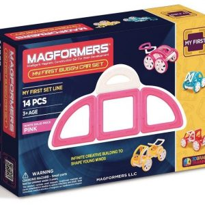 MAGFORMERS – Joc de construcție magnetică – My First – Mașina Roz (14 piese)