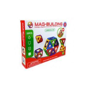set magnetic, educativ, 20 buc, magneti colorati, promotie, forme geometrice bebelind