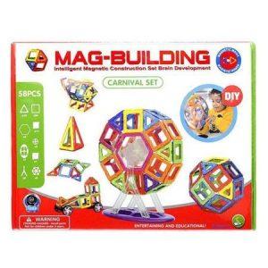 Joc Magnetic Mare – Carusel (58 de piese) – Mag-Building