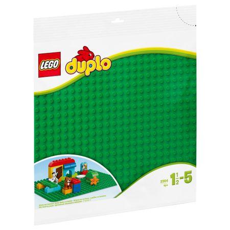 placa contructii lego duplo, placa verde lego, placa originala lego 2304