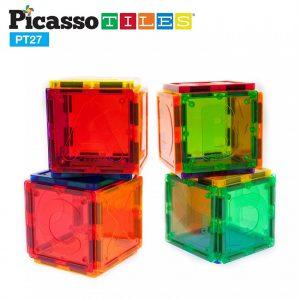 Set PicassoTiles Alfabet – 27 Piese Magnetice De Construcție Colorate