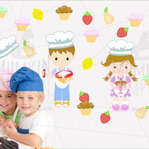 STICKERE copii cu meserii – Bucătari
