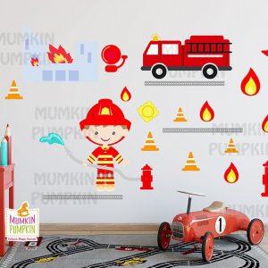 STICKERE copii cu meserii – Pompier