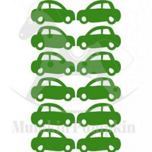 STICKERE de perete cu model tapet Mașinuțe (verde)