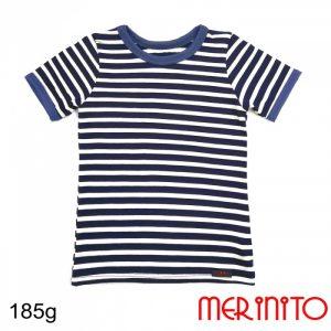 Tricou Pentru Copii cu Mânecă Scurtă 100% merino 185 g/mp