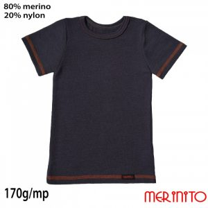 Tricou Copii Vintage Denim 80%merino 20%nylon