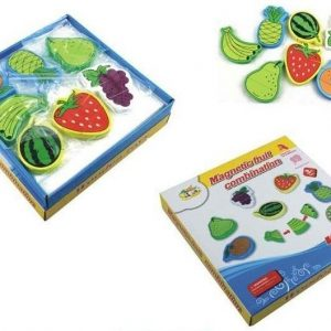 Set 6 fructe magnetice din lemn