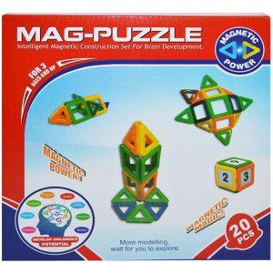 Joc constructii magnetic Mag-Puzzle 20 piese
