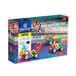 Magspace – 25 Piese Mini Karting – Joc Magnetic Educativ 3D