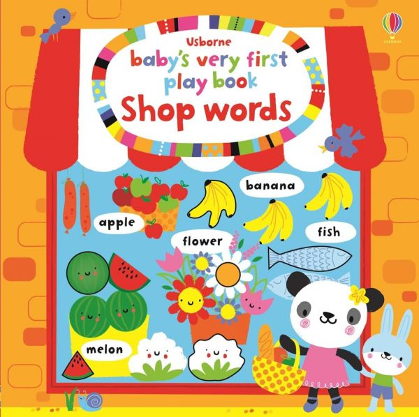 Baby's very first play book shop words - Usborne, reducere, bebelind
