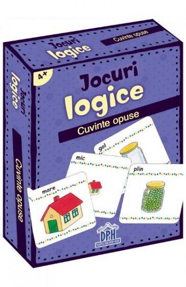 Jocuri logice - Cuvinte opuse, reducere, joc carti copii