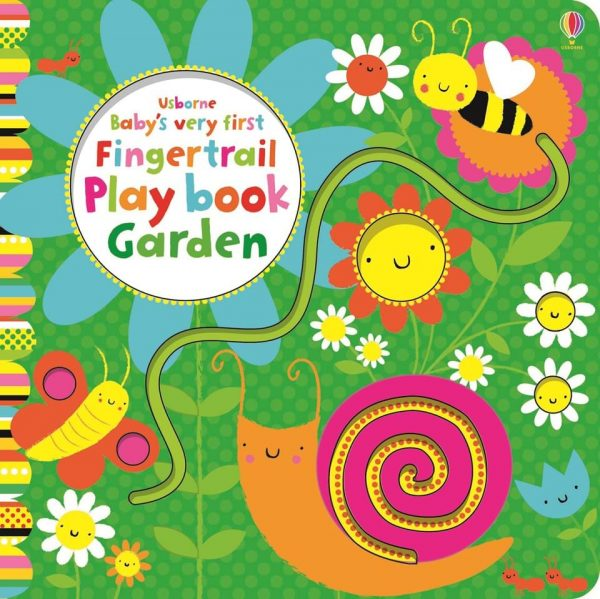 Baby's very first fingertrail play book garden, carti Usborne, reducere