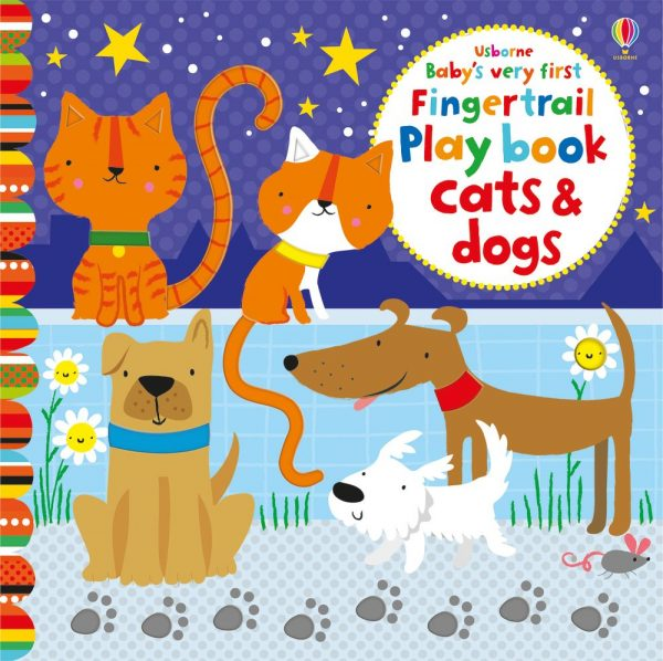 Baby's very first fingertrail play book cats and dogs - Usborne, reducere