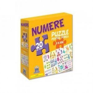 Numerele – Puzzle Podea 50/70 + Afis 50/70 – 20 piese