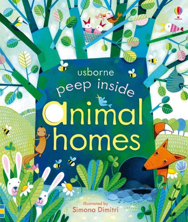 Peep inside animal homes - Usborne, reducere