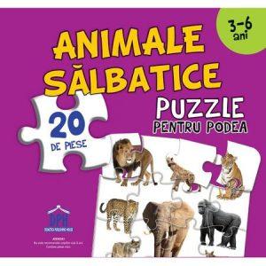 Animale Sălbatice (Puzzle Podea 50/70 + Afiș 50/70) – 20 de piese