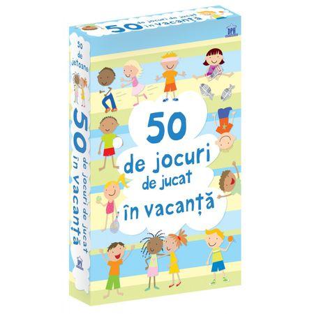 50 DE JOCURI DE JUCAT ÎN VACANȚĂ,Didactica Publishing House, DPH, activitati familie, jetoane usborne, reducere, bebelind