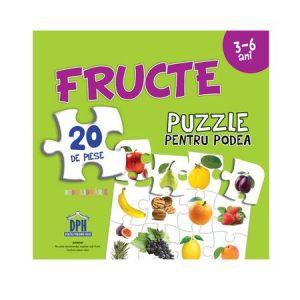 Fructe ( Puzzle Podea 50/70 + Afis 50/70) – 20 de piese