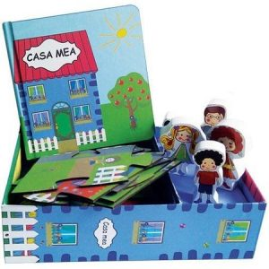 Casa mea – Set cu puzzle, carte, figurine din lemn