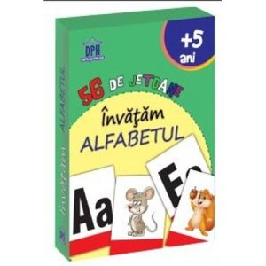 Învățăm alfabetul – 56 de jetoane (5 Ani+)