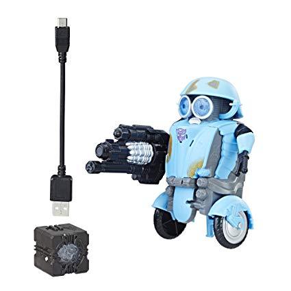 Robot Transformers The Last Knight All Spark Tech Autobot Sqweeks Starter Pack - Hasbro, personaje film trasformers, idee cadou baieti
