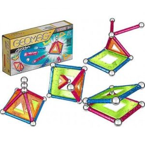 Set de construcție magnetic Geomag, Glitter, 22 piese