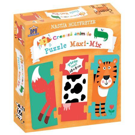 Creează Animale - Puzzle Maxi-Mix, reducere, puzzle educativ