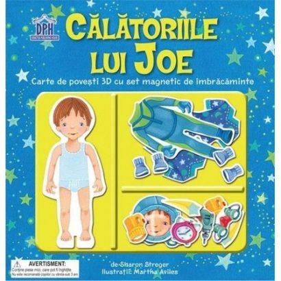 Călătoriile Lui Joe - carte educativă cu piese magnetice, carte educativa, carte magnetica, idee cadou baieti, carte interactiva copii, DPH