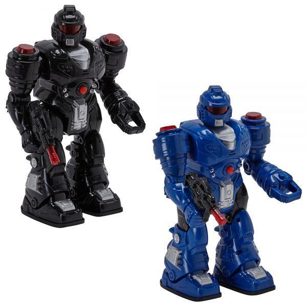 Robot Trasformabil Power Mach - Negru, robot sunete, robot mitraliera, robot interactiv copii