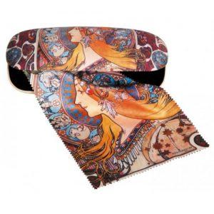 Etui cu textil și protecție ochelari – Art Nouveau