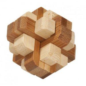 Joc Logic IQ din Lemn Bambus în Cutie Metalică