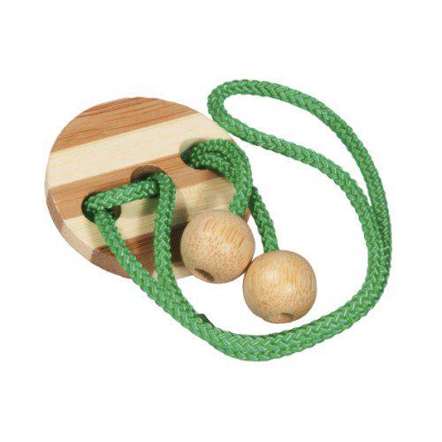 Joc Logic IQ Eliberează Inelul ( în Cutie Metalică), Fridolin Germania, , joc logic, joc educativ, joc lemn snur, joc in cutie metalica