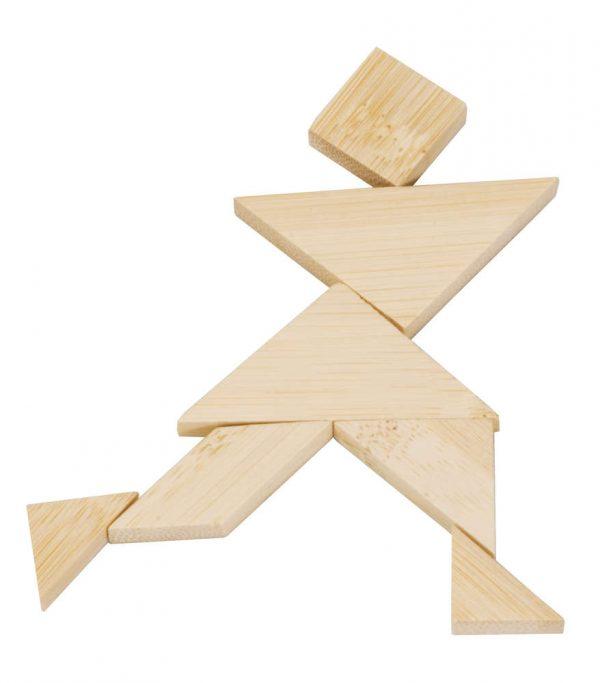 Tangram Fridolin în Cutie, joc educativ lemn, joc logic, joc montessori, joc lemn