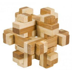 Joc logic IQ din lemn bambus în cutie metalică – 3