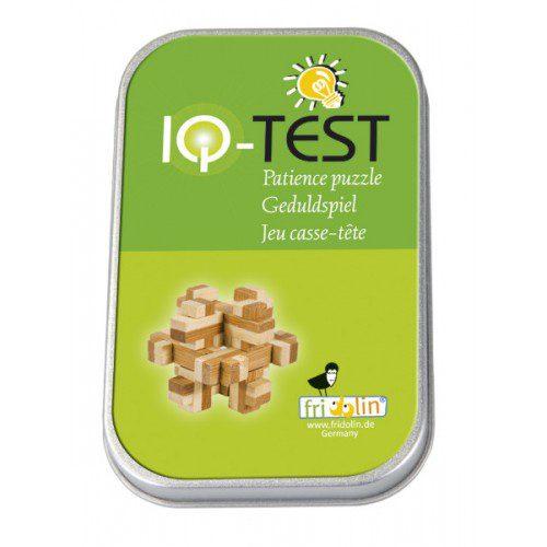 Joc logic IQ din lemn bambus în cutie metalică - 3 , fridolin, jocuri logice, joc strategie, joc lemn, joc tip puzzle, waldorf, montessori
