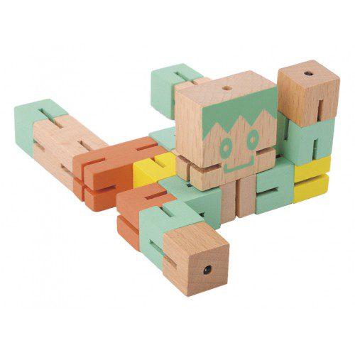 Joc logic 3D puzzle Boy - Verde, fridolin, jocuri germania, joc lemn, joc logic, joc tiip puzzle, educatia waldorf, montessori