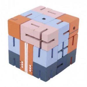 Joc logic 3D Fridolin Puzzle Boy – Albastru