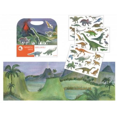 Dinozauri - set magnetic, carte magnetica, carte dinozauri, carte educativa, idee cadou copii, copii gradinita, jocmagnetic animale
