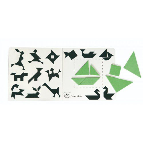 Tangram magnetic - Egmont, tangram carte, joc educativ, joc magnetic, joc inteligenta, joc logic