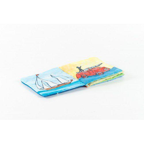 Carte din textil cu ferma, egmont toys, jucarii belgia, jucarii bebe, pentru bebelusi, cadou bebe, carte animale, animale de la ferma