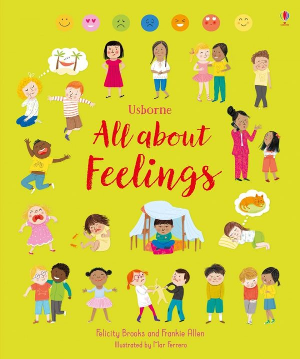 All about feelings, usborne books, despre sentimente copii, carte in limba engleza