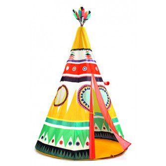 Cort Teepee Djeco, cort colorat copii, cort pentru copii, cort pentru interior, cort montessori, jocuri djeco, jucarii franta, bebelind
