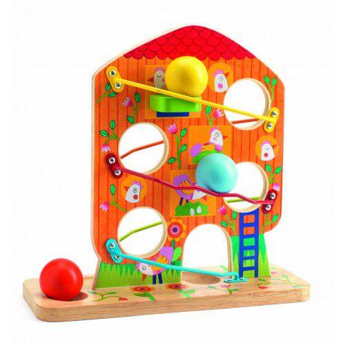 Jucărie bebe alunecă ouăle - Djeco, jucarii djeco, jocuri franta, joc educativ copii, jocuri din lemn, joc bebe, joc bile