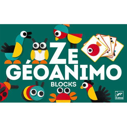 Ze Geoanimo Djeco, jocuri educative, joc puzzle lemn, jocuri copii, bebelind, jocuri cartonase, joc jdeco