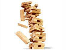 Jenga - Joc Educativ din Lemn, joc lemn logica, joc 54 piese, joc turn