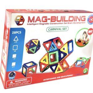 NOU! Mag-Building – Joc magnetic (28 piese)